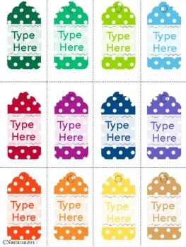 Editable Gift Tags Polka Dot (Small Size)