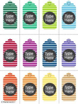 Editable Gift Tags (Small Size)
