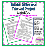 Editable Gifted and Talented Project Bundle