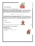 Editable Gingerbread Letter for parents