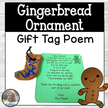 Editable Gingerbread Ornament Poem