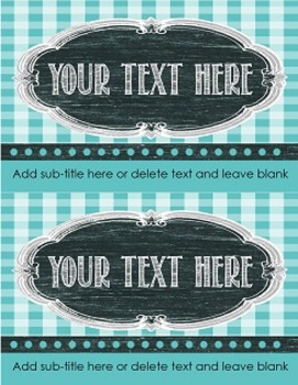 Editable Gingham Classroom Labels
