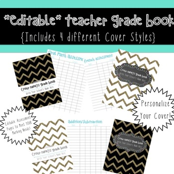 Glam Teacher Grade Book {editable}