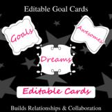 Editable Goal Cards