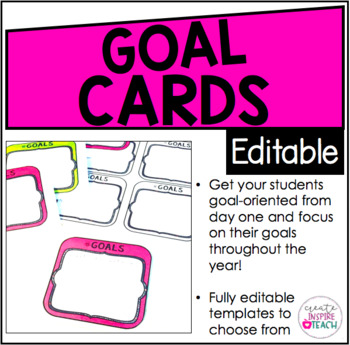 Editable Goal Cards - Designed For Target Square Adhesive