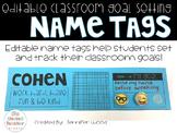 Editable Goal Setting Student Name Tags