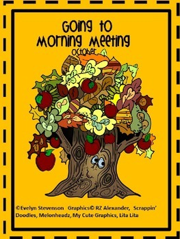 Editable Going to Morning Meeting October