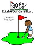 Editable Golf Game Board