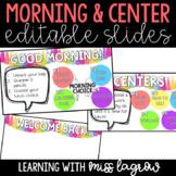 Editable Good Morning / Welcome Back Message Slide Images