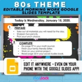 Editable Google Slides Templates | 80s Vibes