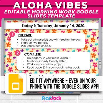 Editable Google Slides Templates | ❀Aloha Vibes❀