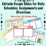 Editable Google Slides for Assignments, Agendas, and Directions