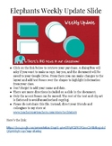Editable Google Slides for Simple Weekly Newsletters: Elephants