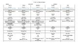 Editable Grade 1&2 Weekly Schedule