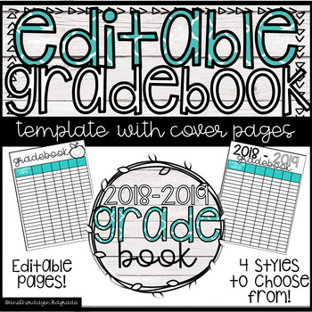 Editable Grade Book Pages FREEBIE