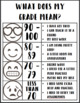 Editable Grade Explanations Chart | Understanding Grade Meanings | Color and B&W