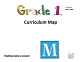 Editable Grade One Curriculum Map Ontario with NEW 2020 ex