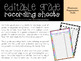 Editable Grade Recording Sheets