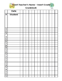 Editable Grade Sheet Book Happy Planner Template Kawaii Printable File