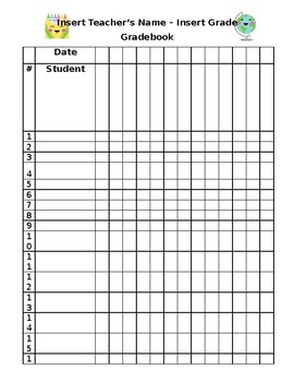 image about Printable Grading Sheets titled Editable Quality Sheet Worksheets Schooling Components TpT