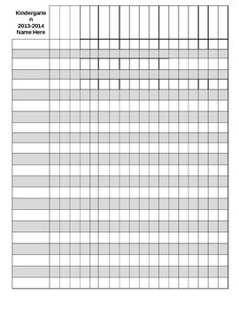 Impertinent image inside printable gradebook template