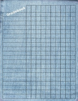Editable Gradebook Template -- 2  Fun Denim Styles