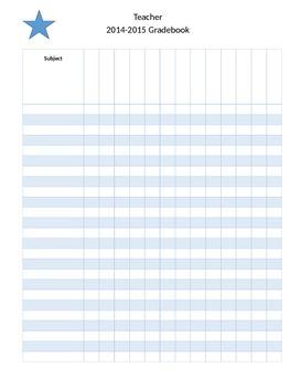 Editable Gradebook binder cover & gradebook