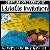 Editable Graduation Celebration Invitation Graduation Invi