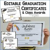 Editable Graduation Certificates and Class Awards