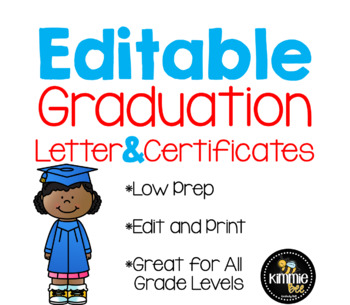 Editable Graduation Invitation Letter Certificates By Kimmie Bee