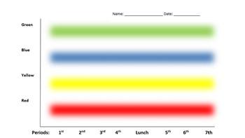 Editable Graph RYGB Chart for Self Regulation and Behavior Management