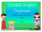 Editable Graphic Organizers