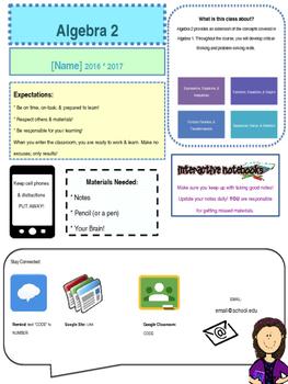 Editable Graphic Syllabus