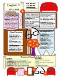 Editable Graphic Syllabus - Book Theme
