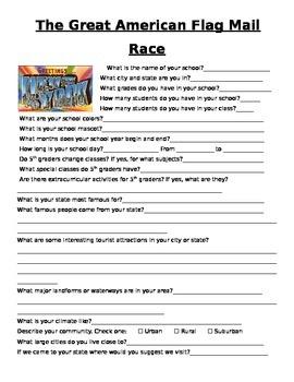 Editable Great American Flag Race Journal