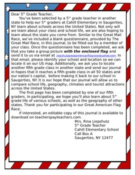 Editable Great American Flag Race Journal
