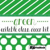 Editable Green Class Decor Kit
