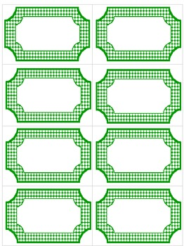 Editable Green & White Polka Dot Labels