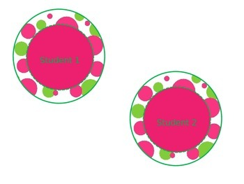 Editable Green and Pink Labels