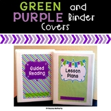 Editable Green and Purple Binder Covers