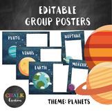 Editable Group Posters - Planets