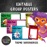 Editable Guided Reading Group Posters - Superheroes