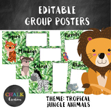 Editable Guided Reading Group Posters - Tropical Jungle Animals