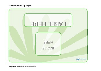Editable Group Signs (General)