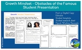 Growth Mindset: Obstacles of the Famous Project - Digital or Print - Editable