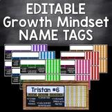 Editable Growth Mindset Name Tags