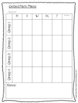 Editable Guided Math Rotations