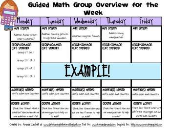 {Editable} Guided Math Template