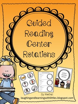 Editable Guided Reading Center Rotations