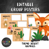 Editable Guided Reading Group Posters - Desert Animals